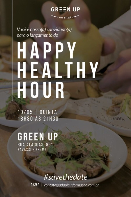 Convite Happy Healthy Hour Green Up