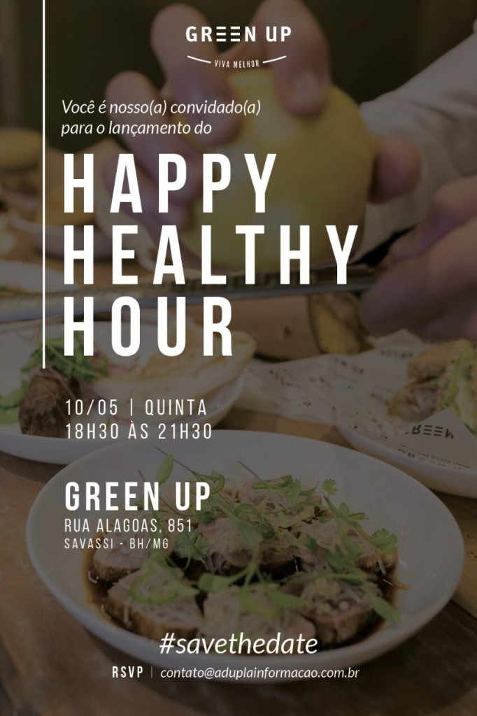 Convite Happy Healthy Hour Green Up