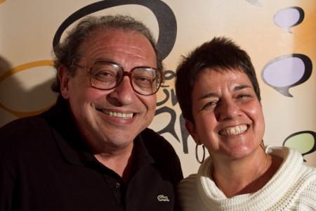 Ruy Castro e Heloisa Seixas - foto gabriel araujo